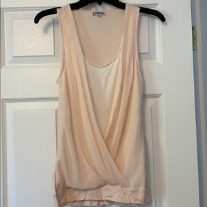 Worn once. Express blush/peachy and white tank. S